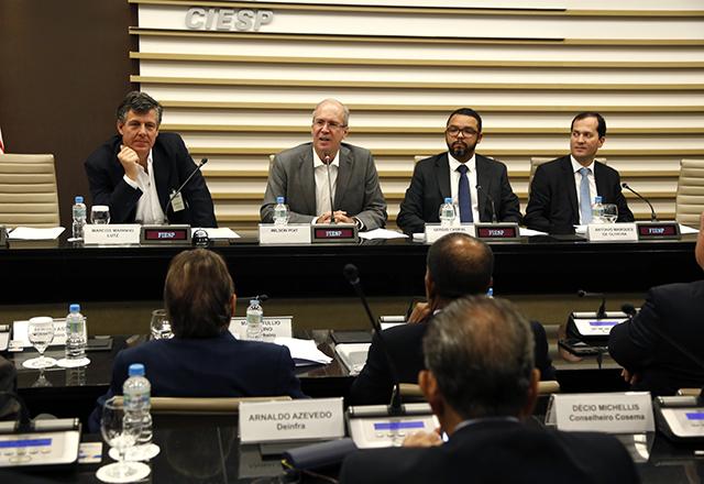 Reunião do Coinfra, da Fiesp, com a participação de Wilson Poit. Foto: Helcio Nagamine/Fiesp