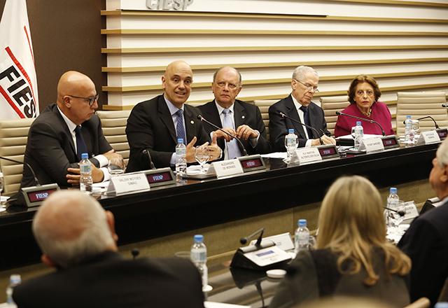 Reunião do Consea da Fiesp com a participação do ministro do STF Alexandre de Moraes. Foto: Helcio Nagamine/Fiesp