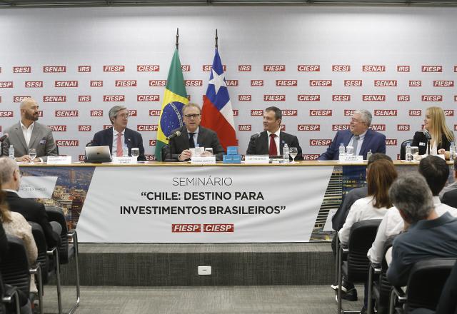 Mesa de abertura do seminário Chile: Destino para investimentos brasileiros. Foto: Helcio Nagamine/Fiesp