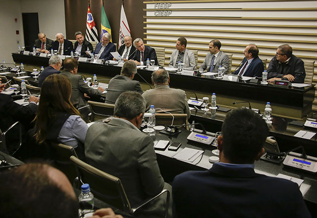 Reunião do Code, da Fiesp, com a participação de Andrea Matarazzo. Foto: Everton Amaro/Fiesp