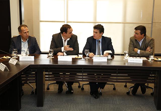 Reunião de dirigentes da Fiemg, do Ciemg, da Fiesp e do Ciesp. Foto: Ayrton Vignola/Fiesp