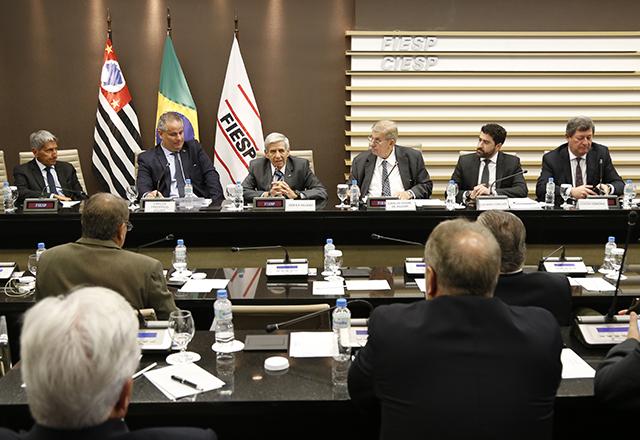 Apresentação das propostas de Bolsonaro, por Augusto Heleno Pereira. Foto: Helcio Nagamine/Fiesp