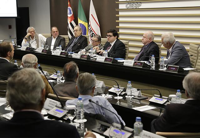 Reunião do Cosec com a participação de Felipe Salto, do Instituto Fiscal Independente. Foto: Helcio Nagamine/Fiesp
